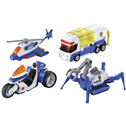 Tomica HyperCity Rescue Police Vehicles 4 pack